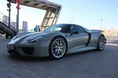 Porsche 918 Spyder Stock Photo