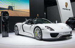 Porsche 918 Spyder hybrid Royalty Free Stock Photos