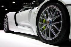 Porsche Spyder på IAA-bilarna Royaltyfria Bilder