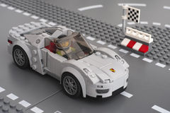 Porsche 918 Spyder por LEGO Speed Champions Fotografia de Stock Royalty Free