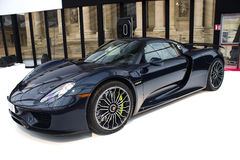 Porsche 918 Spyder side view Stock Image