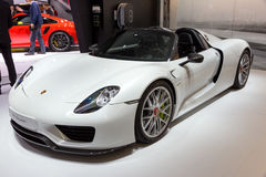 Porsche 918 Spyder sportów samochód Obraz Stock