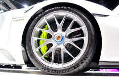 Porsche 918 Spyder wheel. Stock Image