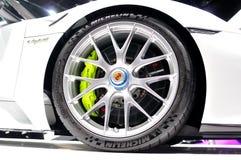 Porsche 918 Spyder-wiel Stock Afbeelding