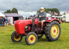 Porsche Standard 218 Tractor. A Porsche Standard 218 Tractor on show in September 2017 at the Stoke Prior Steam Rally, Worcestershire, England Royalty Free Stock Photos