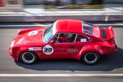 Porsche 911 tävlings- bil Royaltyfria Bilder