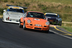 Porsche 911 tävlings- bilar Royaltyfri Foto