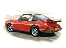 Porsche 911 Targa illustration de vecteur