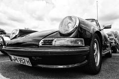 The Porsche 911 Targa (Black and White) Stock Photo