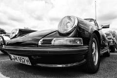The Porsche 911 Targa (Black and White) Stock Photo