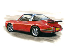 Porsche 911 Targa Stock Photos