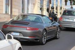 Porsche 911 Targa 4S i Monte - carlo, Monaco Royaltyfri Fotografi