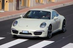 Porsche 911 50th årsdagupplaga i Monte - carlo, Monaco Arkivfoton