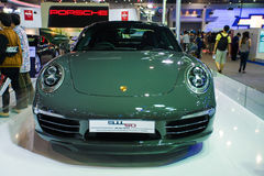 Porsche 911 50th display on stage Royalty Free Stock Photos
