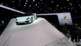 Porsche-toonzaal bij de IAA-Auto's Stock Foto