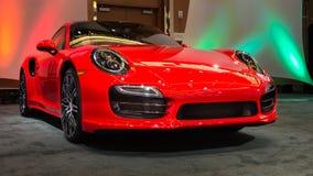 Porsche 2015 911 Turbo Foto de archivo libre de regalías