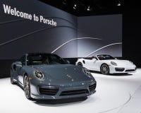 2017 Porsche 911 Turbo en Turbos Stock Afbeelding