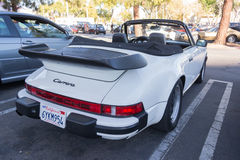 Porsche 911 Turbo kabriolet na pokazie Fotografia Stock