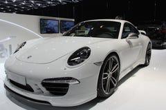 Porsche 2014 911 Turbo par TechArt sur le salon d'automobile de Genève Photo libre de droits
