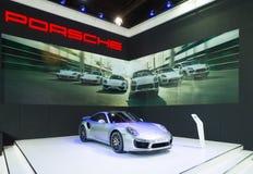 Porsche 911 Turbo S on display Stock Photography