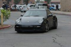 Porsche 911 Turbo samochód na pokazie Zdjęcia Royalty Free