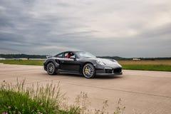 Porsche 911 turboladdare 2015 S Arkivfoton