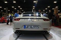Porsche tyły, ogonów tailpipes i lampy i zdjęcie royalty free