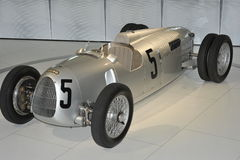 Porsche Typ 22 Auto Union. Replica of the Porsche Type 22 in the Porsche museum in  Stuttgart, South-Germany Stock Photography