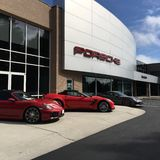 Porsche-Verkaufsstelle Stockfotografie