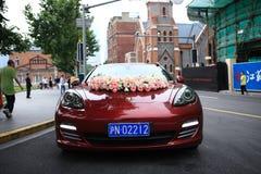 Porsche Wedding car Stock Photos