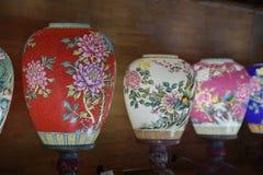 Porselein die lantaarn-Jingdezhen-Jiangxi provincie-China bloeien Stock Foto's
