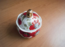 Porselein Sugar Bowl Stock Foto