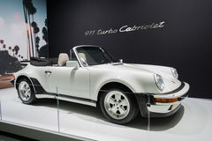 Porshe 911 Cabriolet car on display at the LA Auto Show. Stock Photos