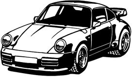 Porshe car cartoon Vector Clipart Royalty Free Stock Photos