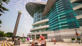 Porslin för schackningsperiod för tid för monument 4k för Hong Kong regel- och utställningmitt stock video