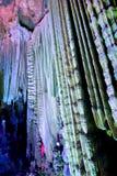 Porslin för silvergrottaguangxi landskap Arkivbild