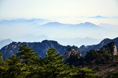 porslin huangshan Royaltyfri Fotografi
