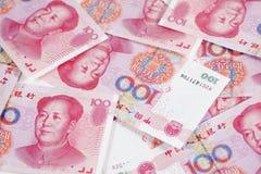 porslin hundra en yuan arkivbild