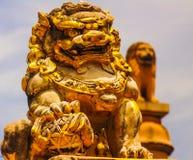 porslin Indien för lejonstatykonst Arkivfoton