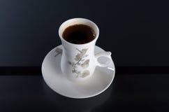 Porslin kuper av kaffe Royaltyfri Fotografi