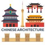porslin till turen Kinesisk arkitektur semester Blå himmel och bil Turism resa Resande illustrationPekingstad Modern plan desi stock illustrationer