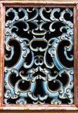 porslindesignfönster Royaltyfria Foton