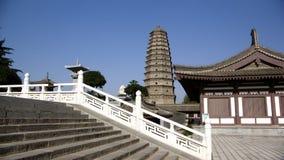 porslinet famen pagodatempelet xian royaltyfri fotografi
