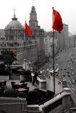 porslinet flags rött s Royaltyfri Fotografi