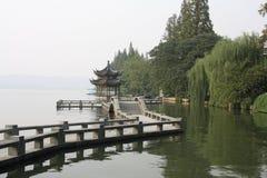 porslinhangzhou xihu arkivfoton