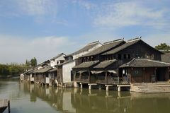 porslinhusvatten wuzhen Fotografering för Bildbyråer