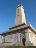 porslinkamratskapkorea norr torn Arkivfoton