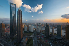 porslinlandmarks shanghai i dag Royaltyfri Bild