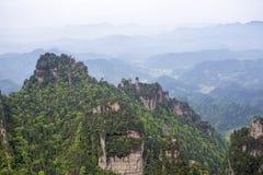 porslinliggande som bedövar zhangjiajie Royaltyfri Bild