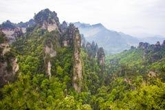 porslinliggande som bedövar zhangjiajie Royaltyfria Bilder